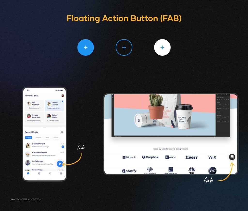 Floating Action Button (FAB)