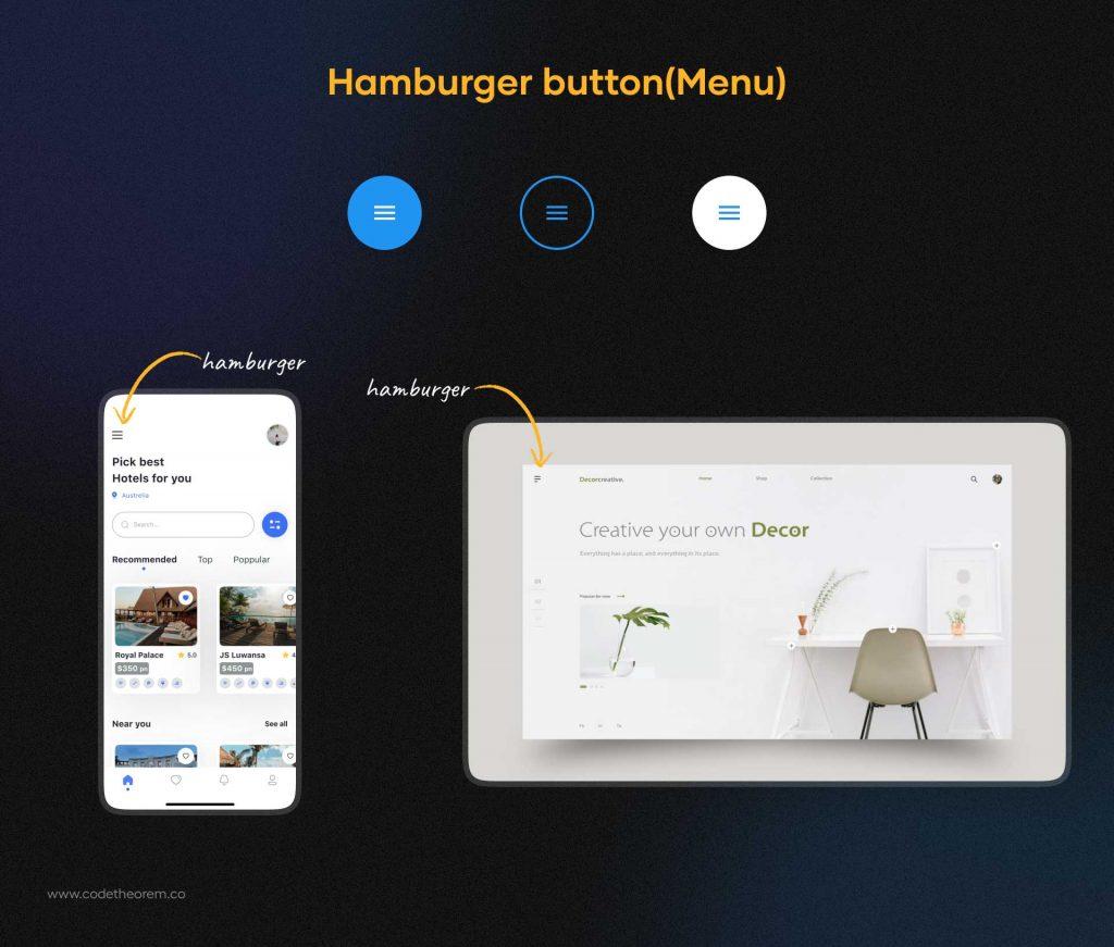 Hamburger Button